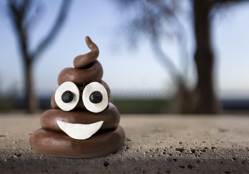 Emoji. Poop shit minimal top character emoticon royalty free stock photos