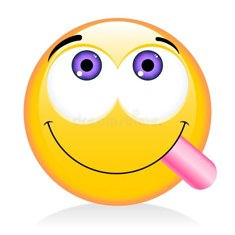 Emoji, emoticon - gourmet, concetto affamato illustrazione di stock