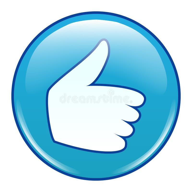Emoji Emoticon ikony wektor Jak, kciuk Up ilustracja wektor