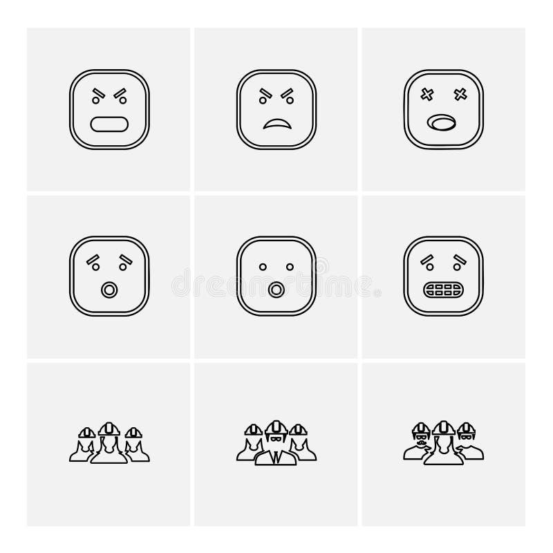 Emoji , emoticon , smiley ,eps icons set vector. Emoji , emoticon , smiley , happy , sad, cry , laugh , raomntic, love , angry , confused , handsome , nervous vector illustration