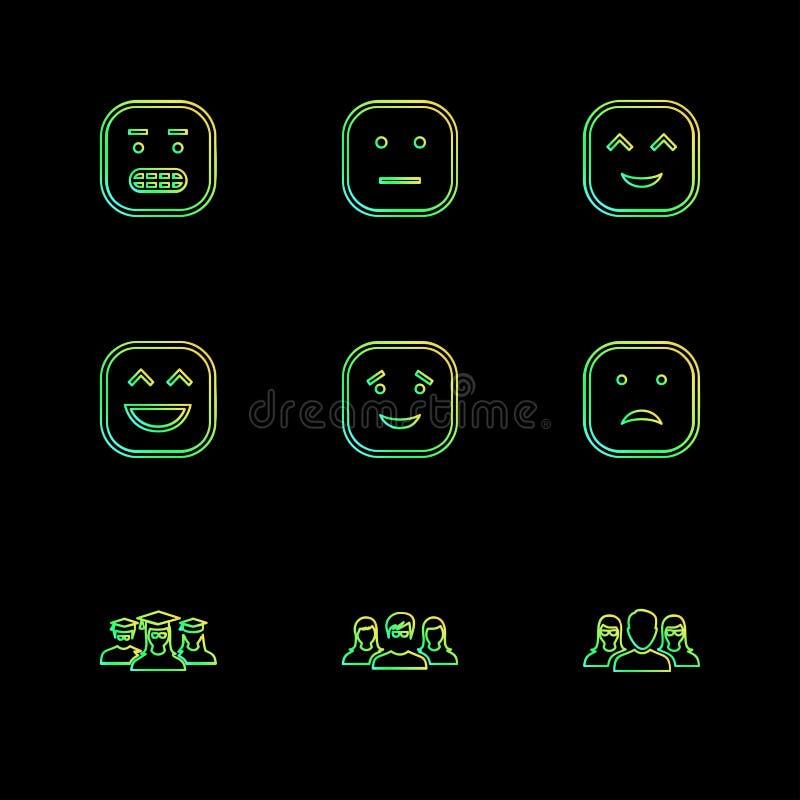 emoji, emoticon, smiley, eps ikony ustawia wektor ilustracji