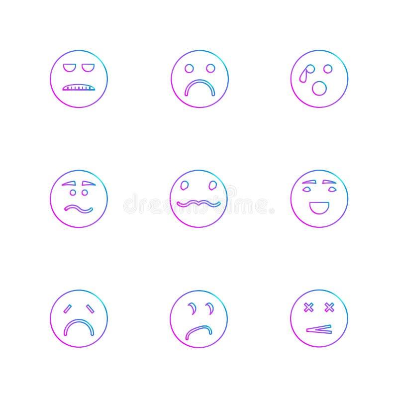 Emoji, Emoticons, eomtions, smiley, ENV-Ikonen stellte Vektor ein vektor abbildung