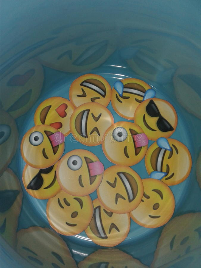 Emoji. Faces laugh stock photography