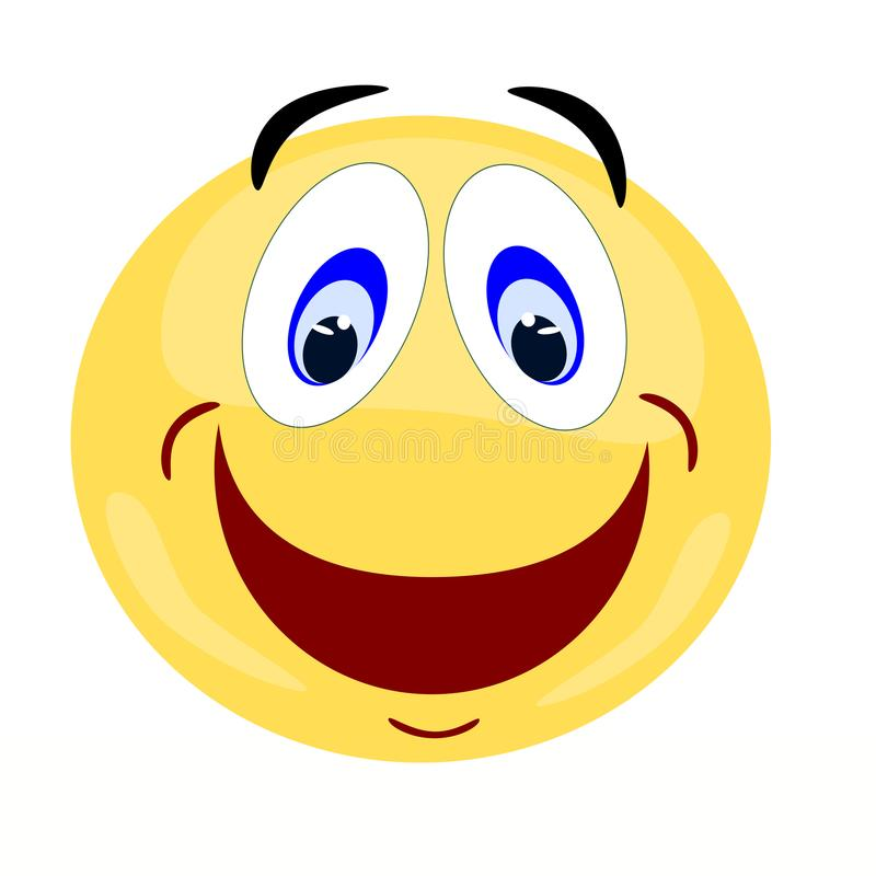 Emoji facial expression of a happy wide smile royalty free stock photography