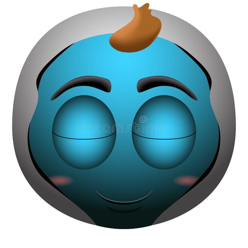 Emoji heureux de bébé illustration de vecteur