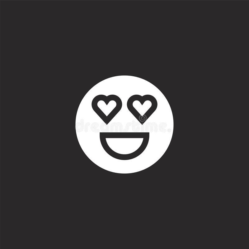 Emoji icon. Filled emoji icon for website design and mobile, app development. emoji icon from filled social media collection. Isolated on black background vector illustration