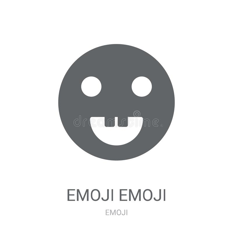 Emoji emoji icon. Trendy Emoji emoji logo concept on white background from Emoji collection. Suitable for use on web apps, mobile apps and print media royalty free illustration