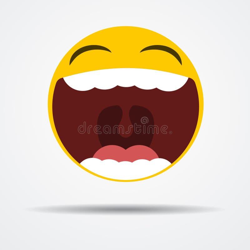 Emoji isolato che ride fragorosamente in una progettazione piana illustrazione vettoriale