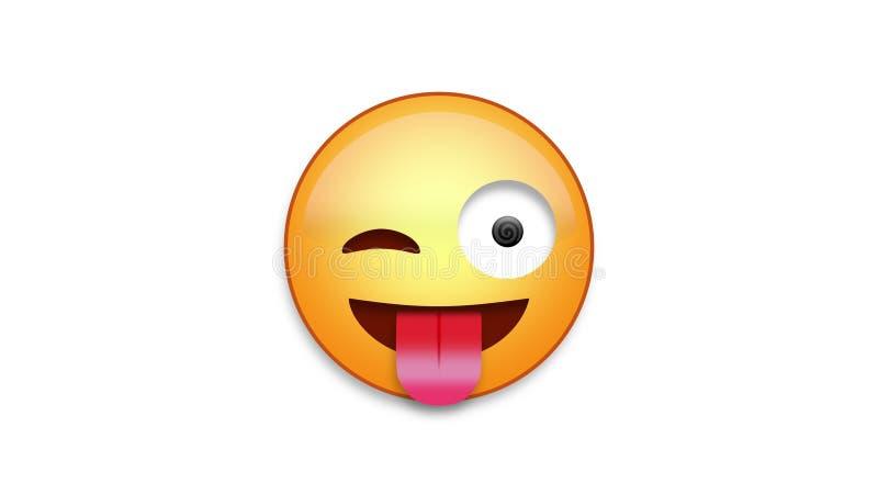 Emoji louco com resíduo metálico de Luma ilustração do vetor