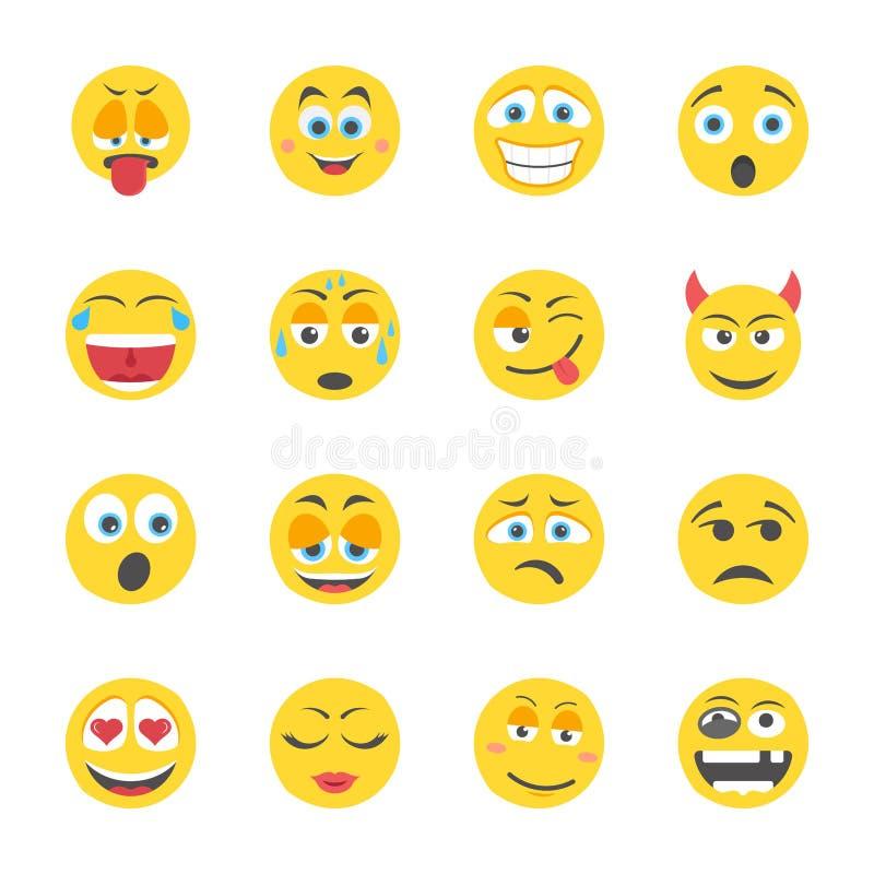 Emoji mieszkania ikony ilustracji