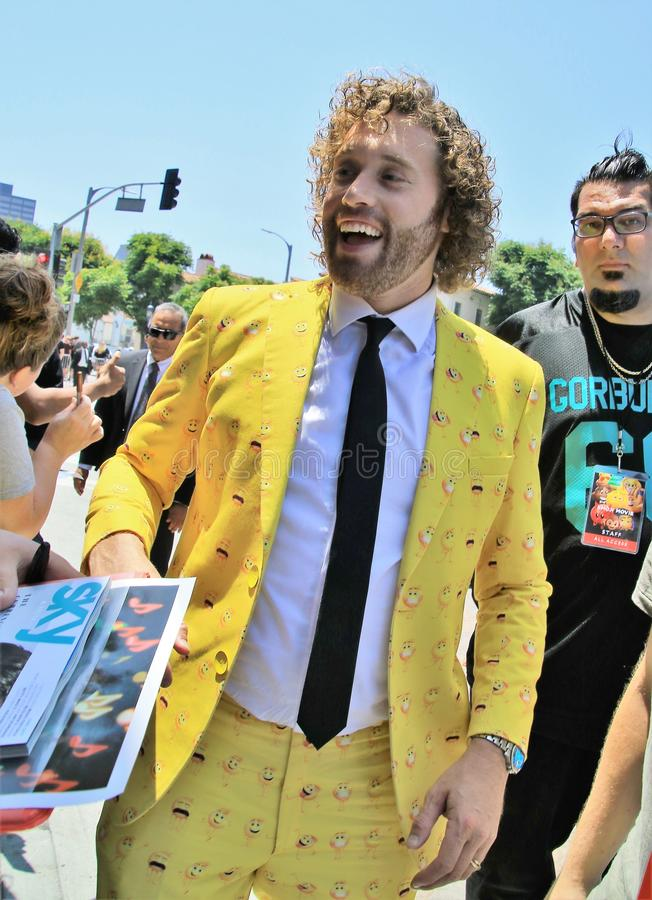 Emoji Movie premiere. Tj Miller at `The Emoji Movie` premiere royalty free stock photos