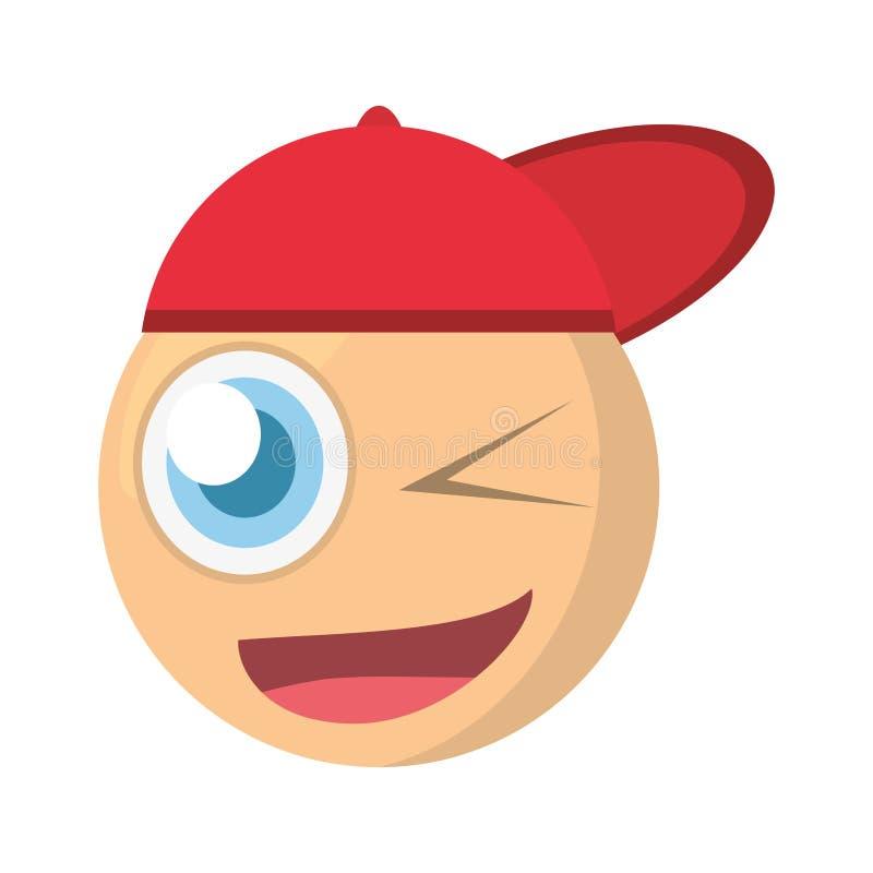 emoji mrugnięcia wyrażenia wizerunek ilustracji