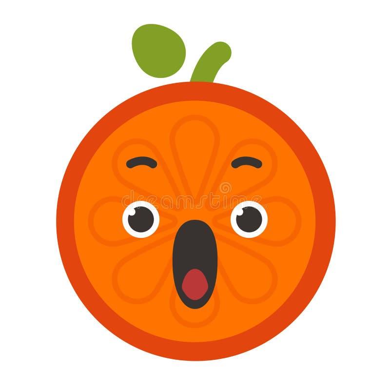 Emoji - schreeuw oranje glimlach Geïsoleerdee vector stock illustratie