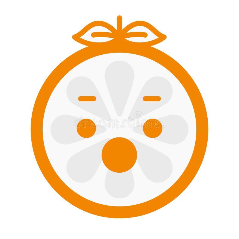 Emoji - schreeuw oranje glimlach Geïsoleerdee vector royalty-vrije illustratie