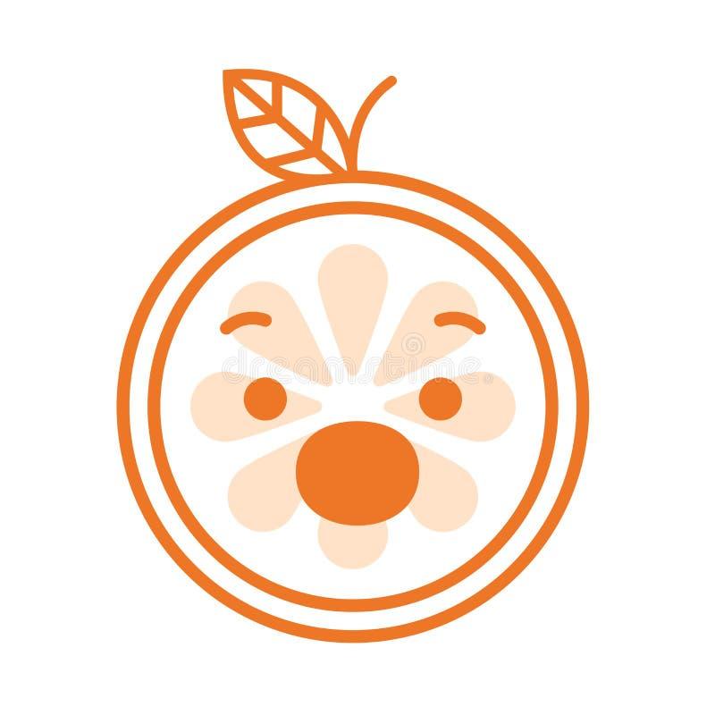 Emoji - schreeuw oranje glimlach Geïsoleerdee vector vector illustratie
