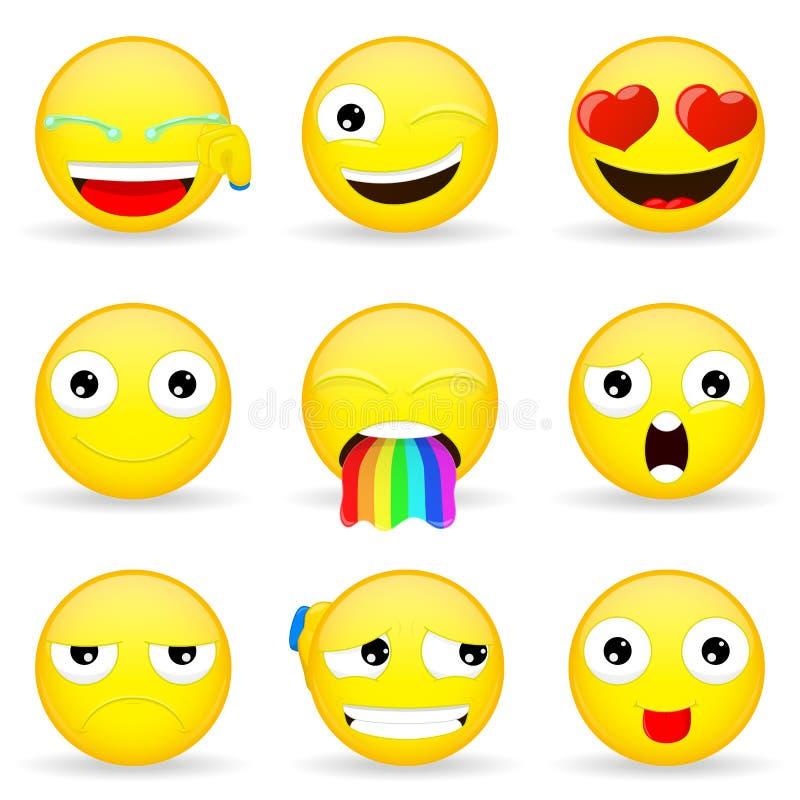 Emoji set Emoticon set ilustracji