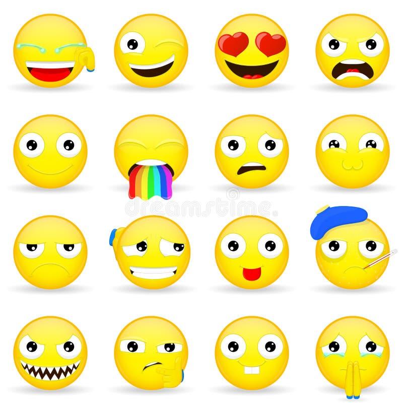 Emoji set Emoticon set Kreskówka styl royalty ilustracja
