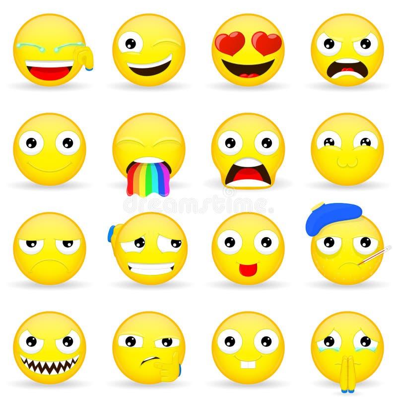 Emoji set Emoticon set Kreskówka styl ilustracja wektor