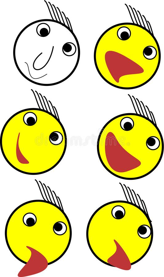 Emoji set illustration for apps stock photography