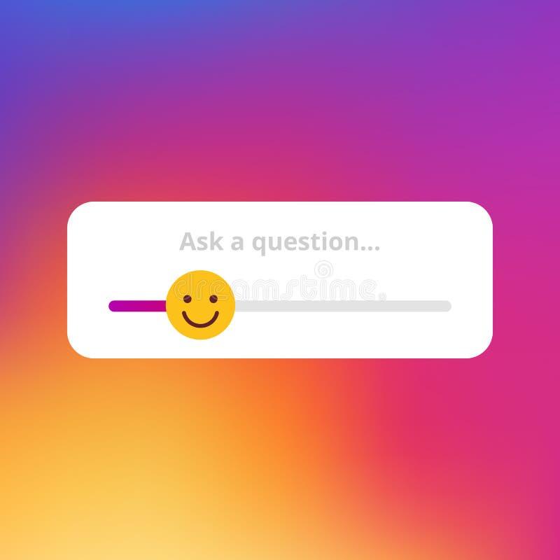 Emoji-slider ilustração royalty free
