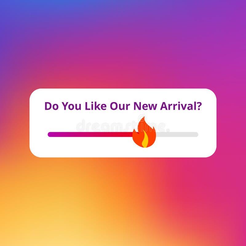Emoji-slider royalty free illustration