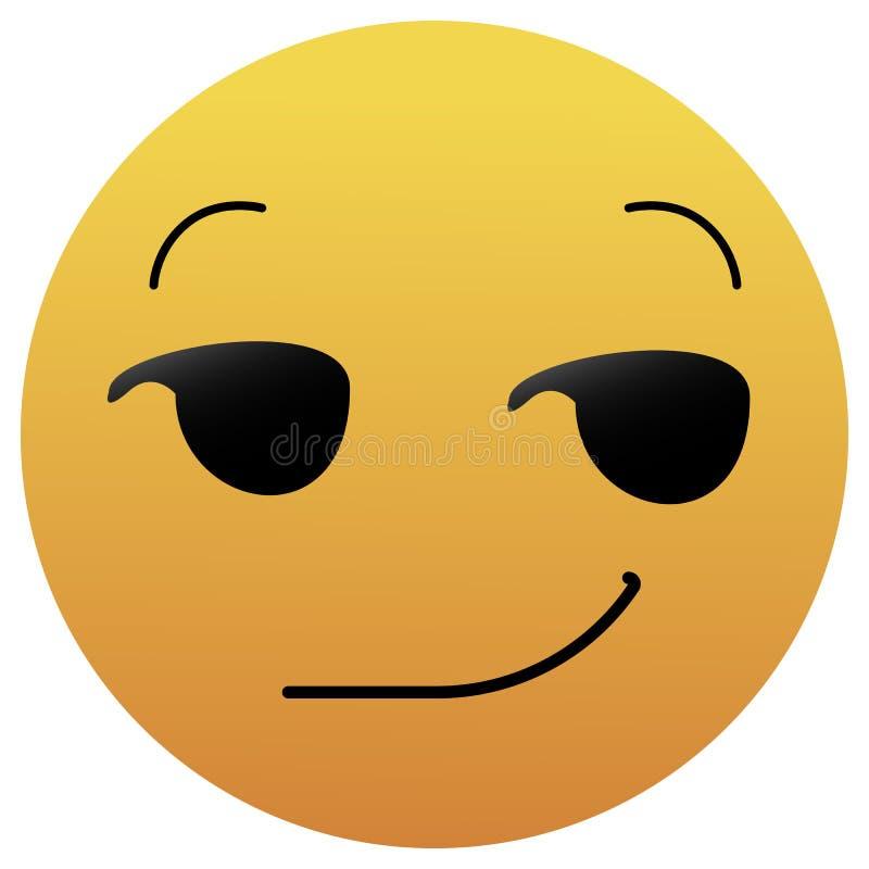 Emoji Souriant D'un Air Affecté Émoticône Sarcastique Smiley Ironique  Expression Ricanante Illustration de Vecteur - Illustration du smirking,  dérision: 102337186