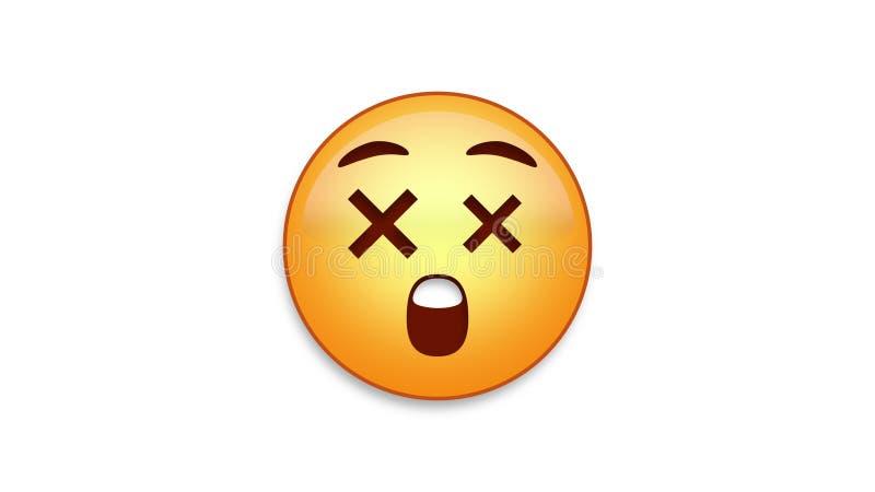 Emoji surpreendido com resíduo metálico de Luma ilustração royalty free