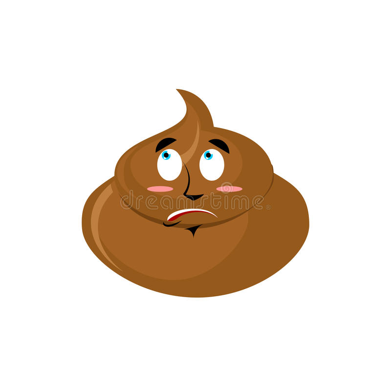 Emoji surpreendido merda Emoção surpreendida Turd isolada ilustração royalty free