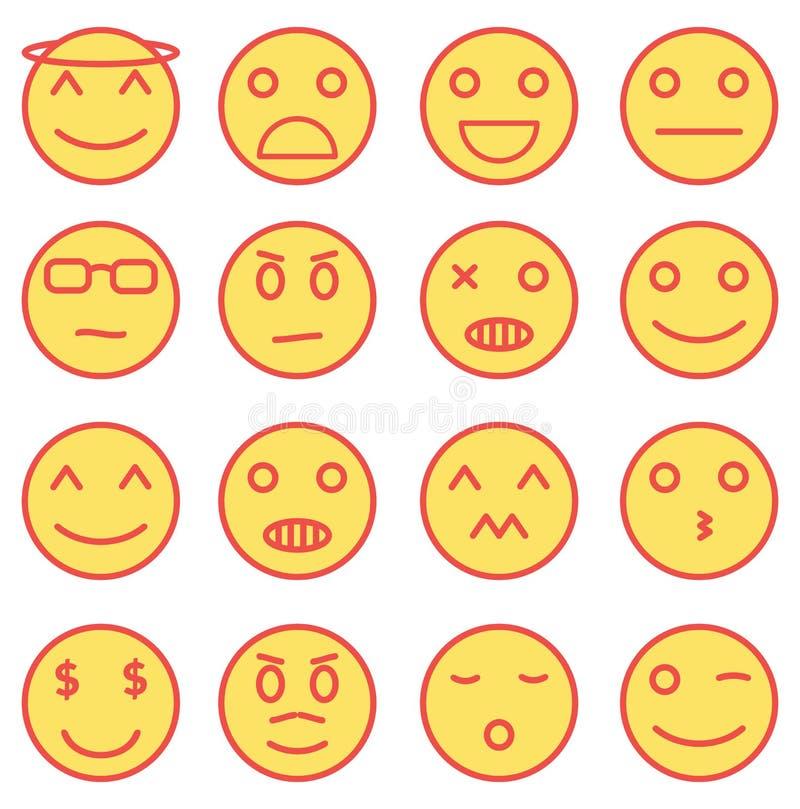 Emoji symboler arkivfoto