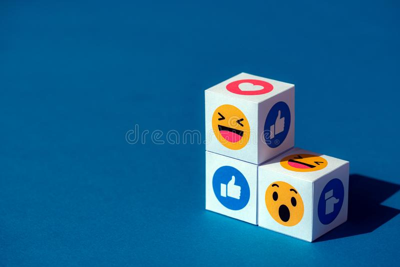 Emoji Symbols from Facebook Messenger royalty free stock photos