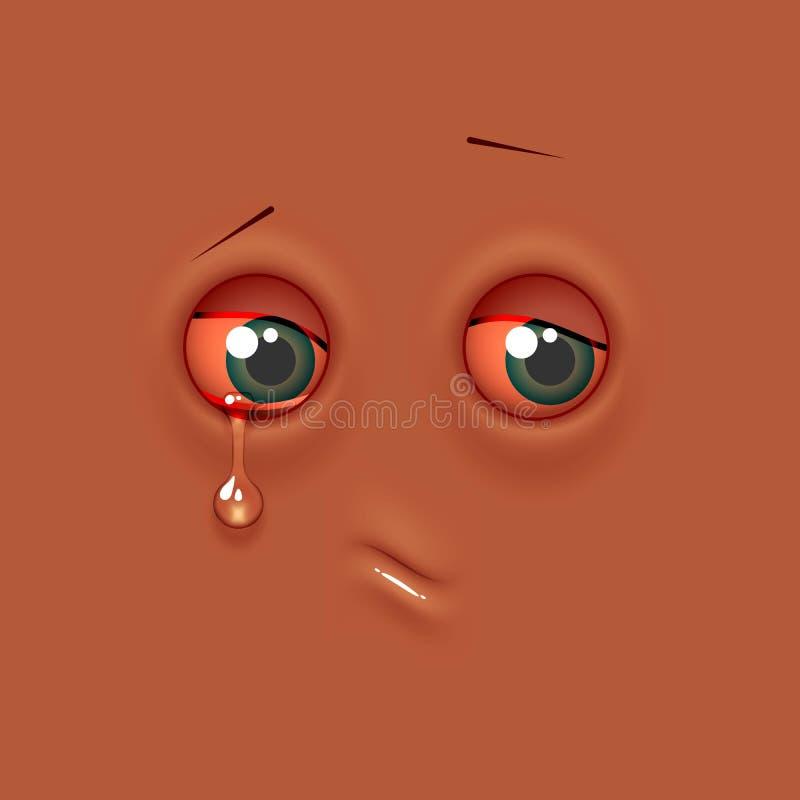Emoji triste d'émoticône illustration libre de droits