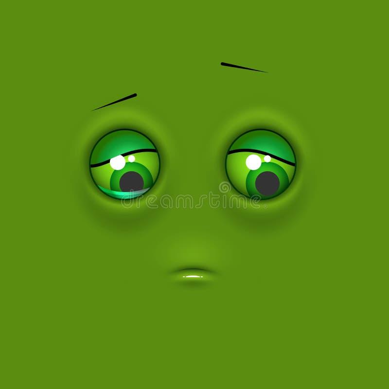 Emoji triste d'émoticône illustration stock
