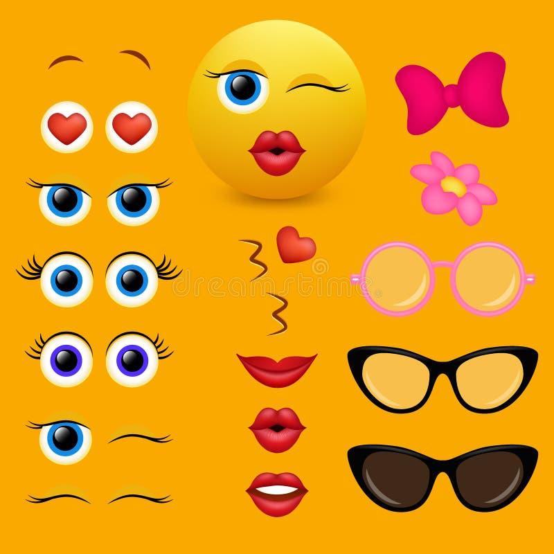 Emoji twórcy projekta wektorowa kolekcja ilustracja wektor