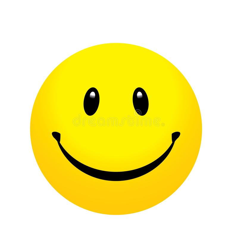 The emoji yellow face smile and happy icon vector illustration