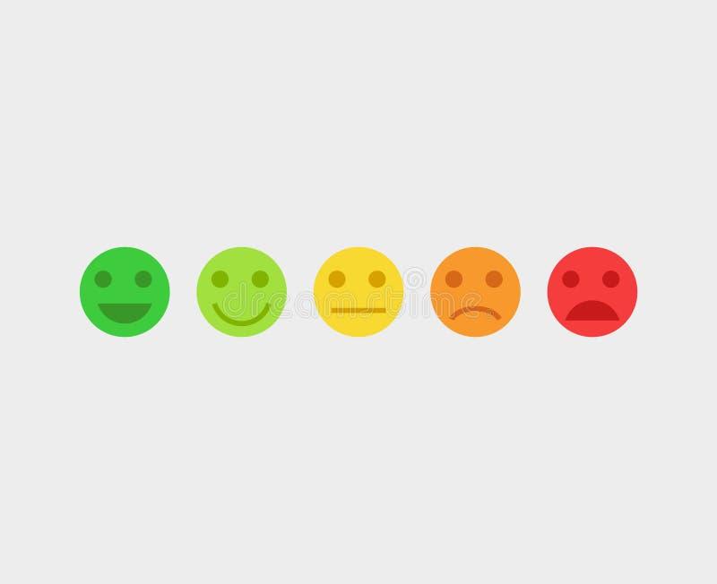 Emojigezichten van het terugkoppelings vectorconcept stock illustratie