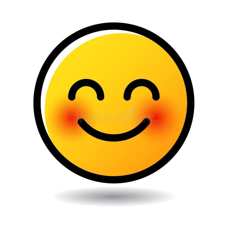 Emojipictogram van het glimlachgezicht emoticon royalty-vrije illustratie