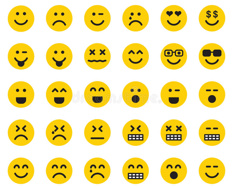 Emojis vektor illustrationer