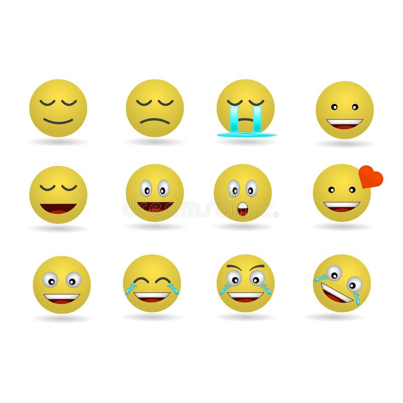 Emojis classiques drôles illustration libre de droits
