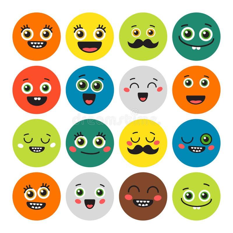 Emojis divertidos de la historieta libre illustration