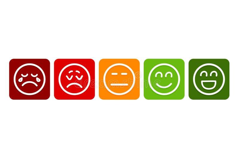 Emojis för värderingen Vektor Eps10 royaltyfri illustrationer