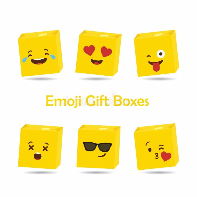 Emojis för valentin vektor för kort för dagdesign royaltyfri illustrationer