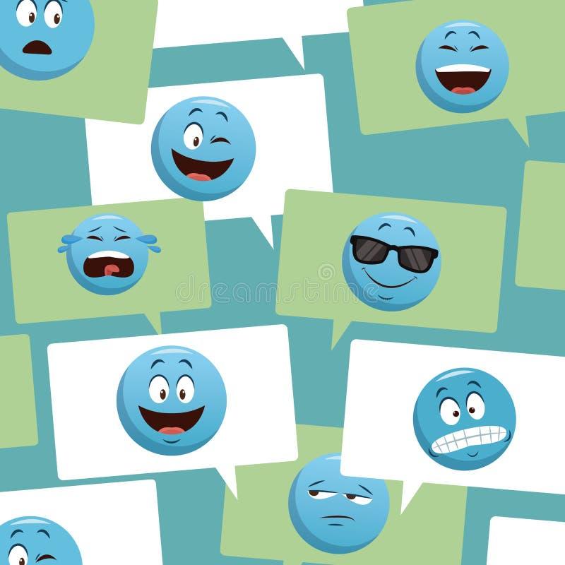 Emojis gadki ikony ilustracji