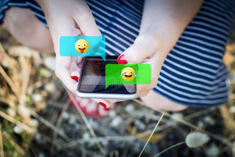 emojis używać gawędzić obraz royalty free