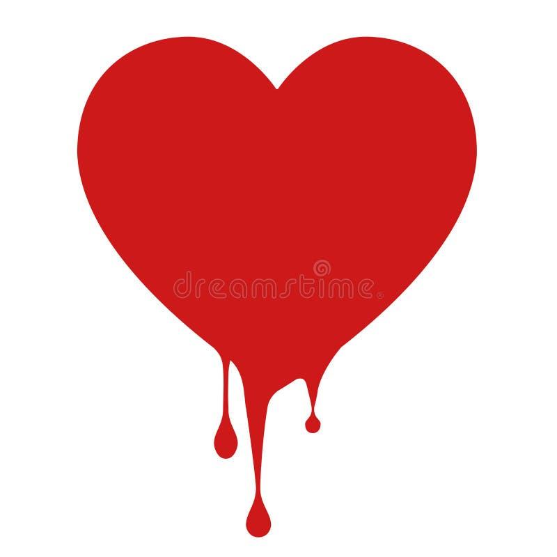 Emorragia dell'icona di amore immagine stock libera da diritti