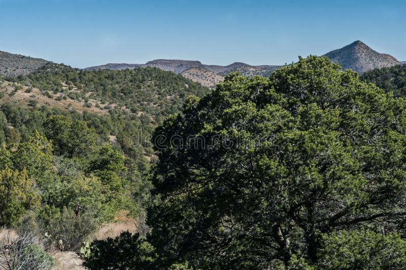 Emory Pass vista in New Mexico. Emory Pass near Silver City in southwest New Mexico provides views of the surrounding mountains royalty free stock photos