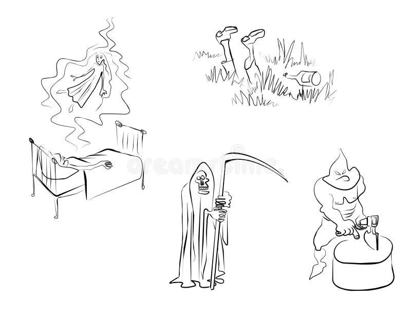 emosionmän royaltyfri illustrationer