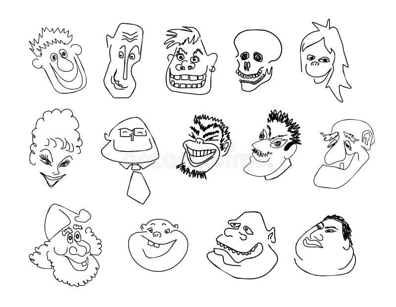 emosionmän vektor illustrationer