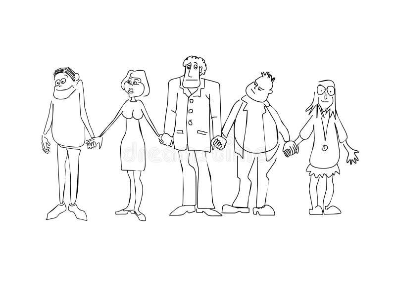 emosionmän stock illustrationer