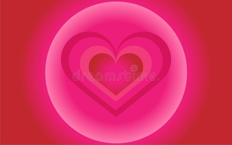Emothion al neon di festa della carta di StValentine di amore del cuore fotografia stock libera da diritti