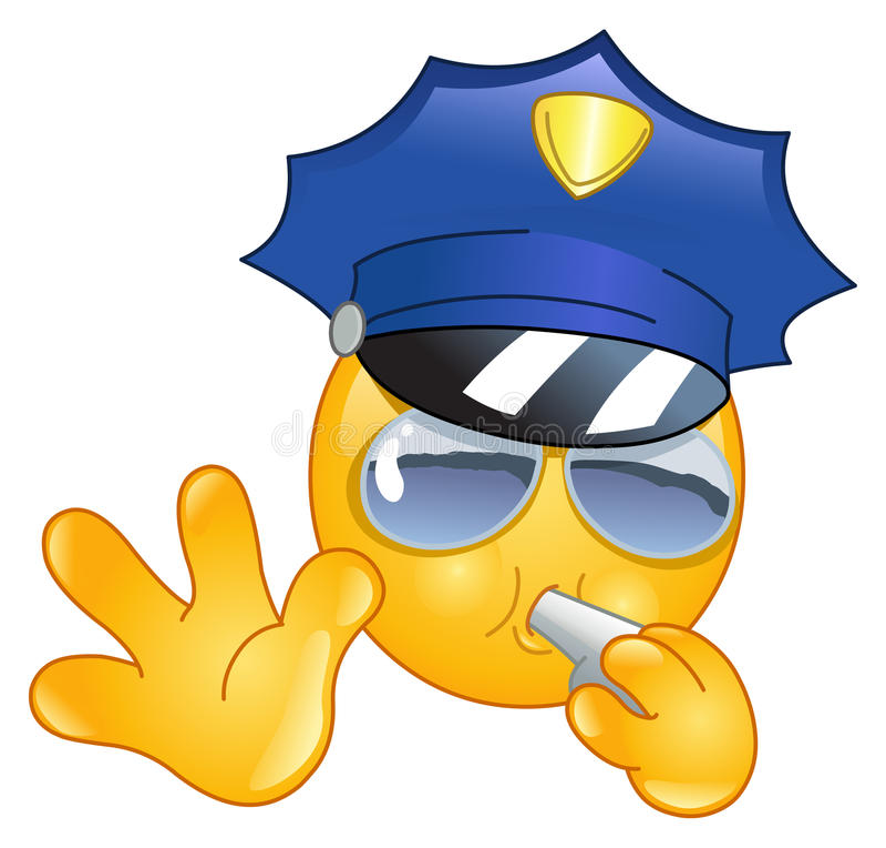 emoticon αστυνομικός διανυσματική απεικόνιση